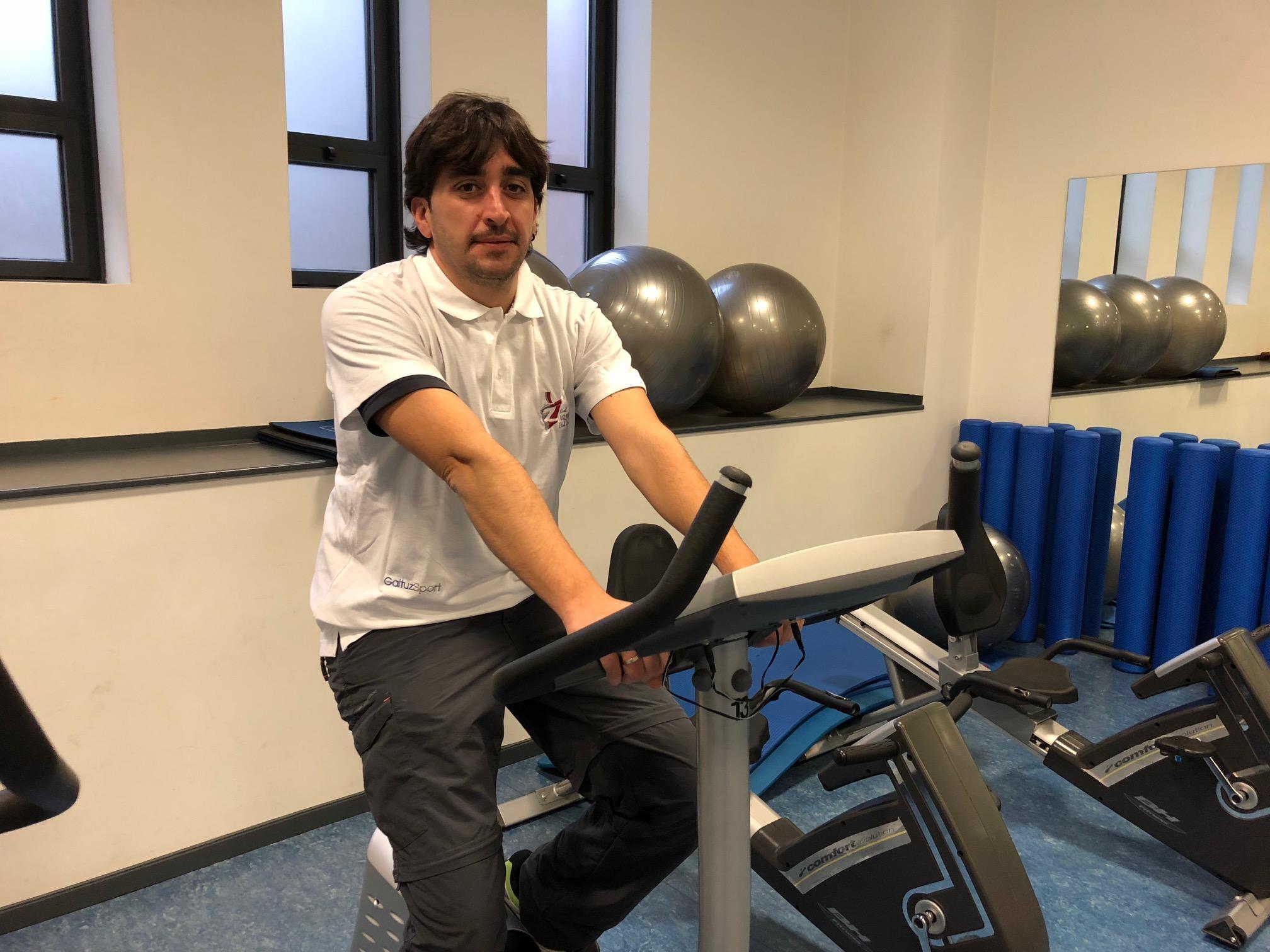 Oskar Lacalzada, monitor delOskar monitor del programa Osakirol GaituzSport